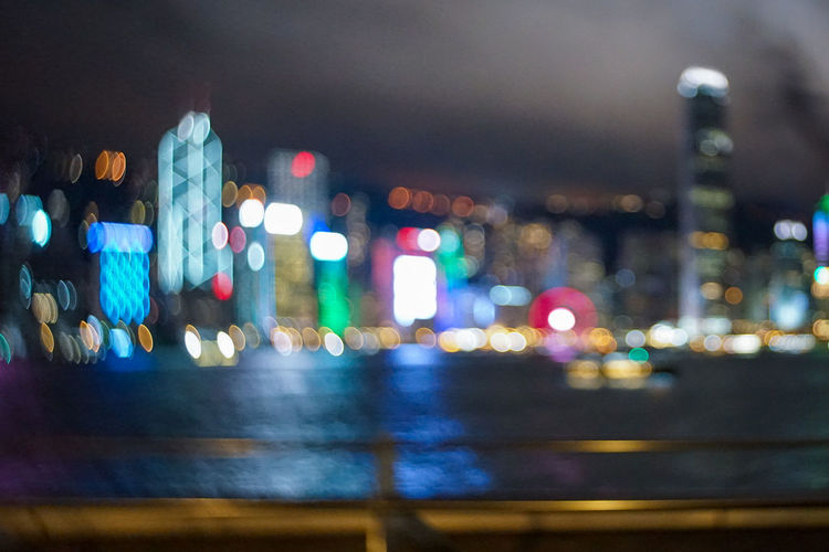 EyeEm Best Shots EyeEmNewHere Hong Kong HongKong Hongkong Photos Architecture Blurred Motion Building Exterior Built Structure City Street Defocused Illuminated Land Vehicle Light Mode Of Transportation Motion Motor Vehicle Multi Colored Night Nightlife No People Outdoors Road Street Transportation