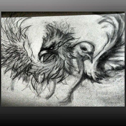 "Every Artist has their own unique ways of different techniques to put their Visions into Art Forms. Sometimes I trip on the vivid images that I sketch out of my mind! This is my free hand drawing I named ""AlexansdrosMetamorphosisI also drew this photo. For my next. chest Tattoo. A Phoenix Bird That signify ""Rebirth"" in my life That's my Metamorphic form of ""Change and Reborn"" And a White Dove Will signify my proof that father gave me signs and came to me multiple times right after my he passed away a significant of Love, Peace, holy spirit and harmony. MyGodGivingTalent Artist DontBeJelly Art FreeHand Drawings Visions Thoughst Gifted Blessed PhoenixBord WhiteDove BelovedFather Love Peace HolySpirit Harmony Signs BirdsHaveMeaning Rebirth Change AlesandrosMetamorphosis MyProof ScaredFoLife SoulSurvivor F4F LeadPencil Tattoos Ink"
