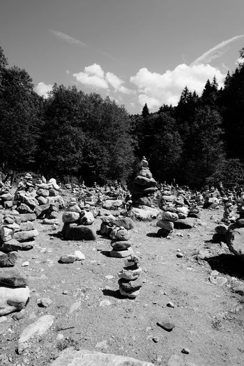 Pile of Rocks Black & White Black And White Photography Pile Of Stones Pile Of Rocks Garmisch-partenkirchen Scenic Sand Beach Tree Nature Outdoors No People Day Shadow Sky
