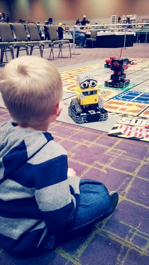 Well, he found his best friend Wall-E at LEGO Brick World!