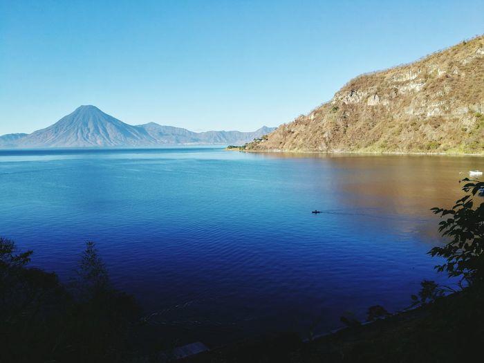 Miles Away Mountain Landscape Lake Water Clear Sky Outdoors Nature Lago Atitlán Guatemala Mountain Range Scenics No People Day EyEmNewHere