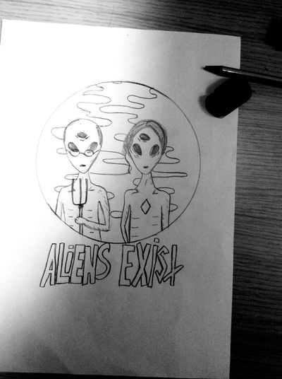 Blink182 Aliens Exist Draw Stupidity