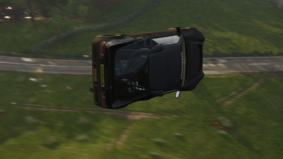 Close-up of camera on car