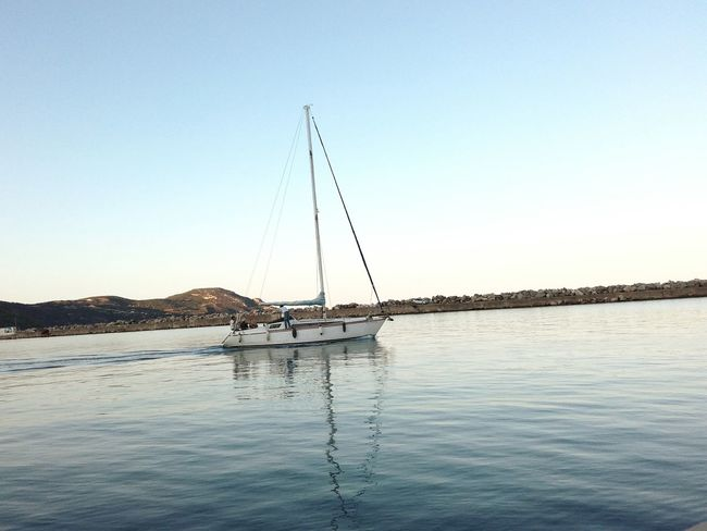 Water Nature Sailboat Clear Sky Outdoors Beauty In Nature No People Waterfront Sky Day Sea Blue Yacht
