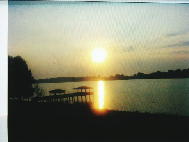 Sunrise Over Lake Beautiful Place Peace And Tranquility In Arkansas