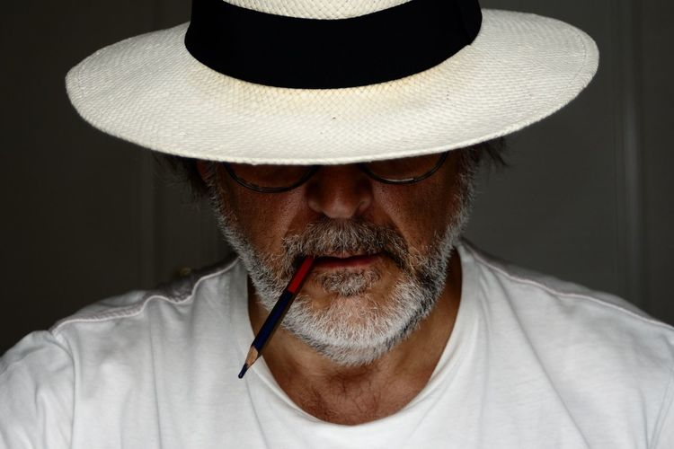 El Zorro Hat Men One Person Headshot Front View Clothing Males  Portrait Adult Mature Adult Real People Facial Hair Indoors  Mature Men Beard Human Face Mustache