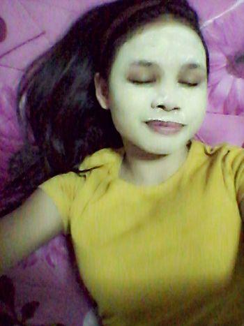 Sleepy with Mask on CuteFace hehe=)
