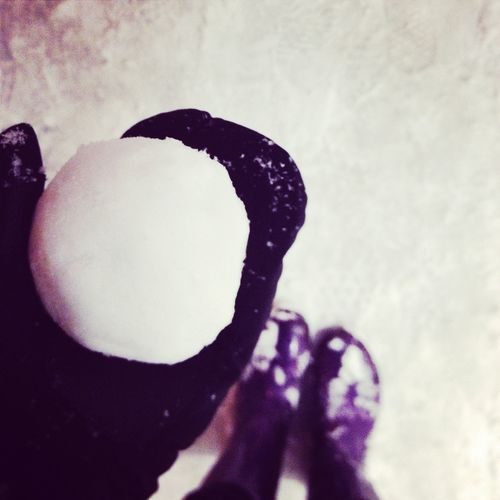 A ball of Winter Fun ❄ #winter #cold #holidays #TagsForLikesApp #snow #rain #christmas #snowing #blizzard #snowflakes #wintertime #staywarm #cloudy #instawinter #instagood #holidayseason #photooftheday #season #seasons #nature #colors #Purple Human Hand Men Silhouette Close-up Sky Self Portrait Photography Calm