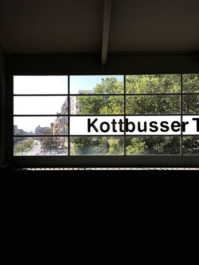 Window Text Built Structure No People Day Architecture Tree Sky Berlin Window Into The City Metro Station Summerday City Life Capture Berlin