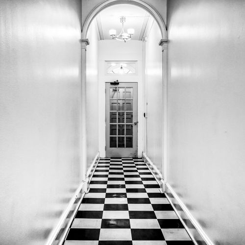 The Hallway Blackandwhite Black And White Photography Interior Hallway