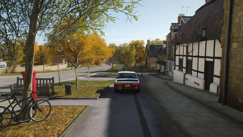 FH4 Forza Horizon 4 Forza Horizon Transportation Tree Mode Of Transportation Plant Architecture Car Motor Vehicle Building Exterior Built Structure City Street Land Vehicle Road Nature Autumn Bicycle Change Day The Way Forward Building No People Outdoors