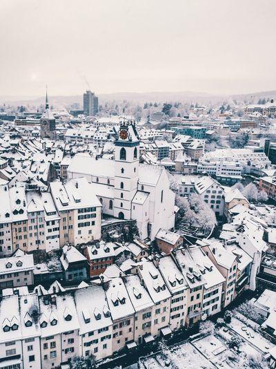 Aarau, hermosa ciudad cubierta de nieve! Aarau Drone  EyeEm Selects Sky Winter Scenics - Nature Cold Temperature Architecture Nature Snow No People Environment City Day Landscape Outdoors Built Structure Building Exterior White Color Cityscape Copy Space Land