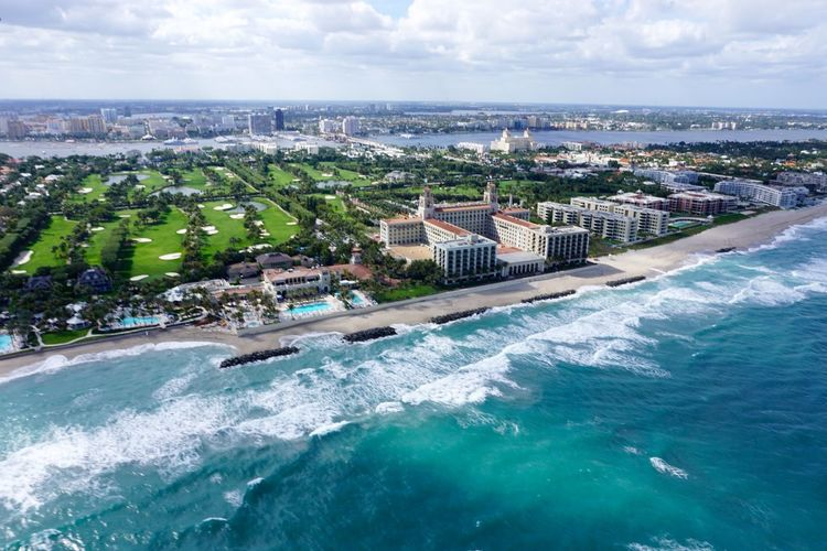 West Palm Beach, Florida Aerial Shot