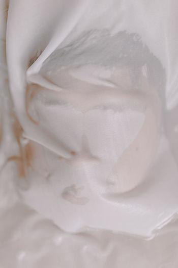 High angle view of ice cream