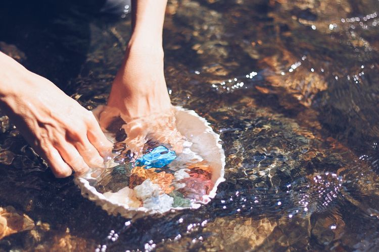 Human Hand Hand Human Body Part One Person Body Part Nature Water Art And Craft Lifestyles Outdoors Sunlight