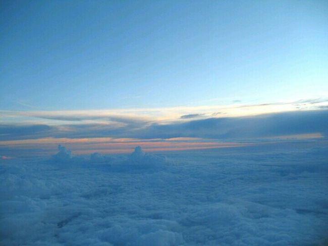From The Plane Window Sky Cloud