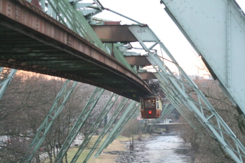 cable railway Wuppertal Architecture Bridge - Man Made Structure Built Structure Cable Railway Cold Temperature Connection Day No People Outdoors Transportation Water Wuppertal