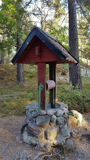 Tree No People Outdoors Day Nature Built Structure Beauty In Nature Schären Grinda Grinda Island Brunnen Cistern