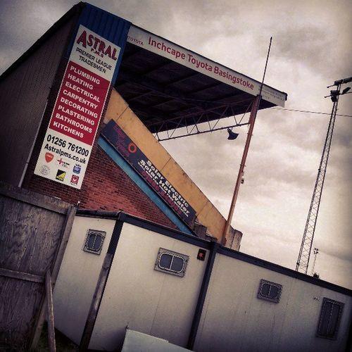 The Basingstoke Town grandstand.