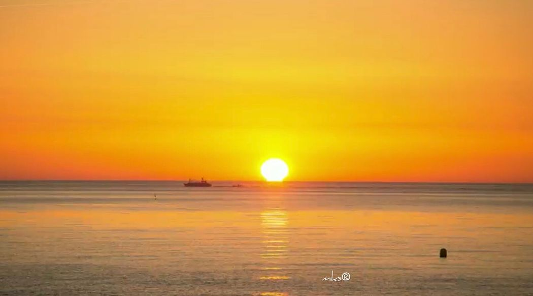 Good Morning EyeEm Best Shots Bestoftheday Sunset Sea Horizon Over Water Scenics Sun Beauty In Nature Water Nature Beach Sky No People Travel Destinations Orange Color
