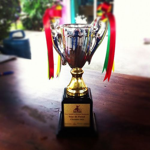 My trophy, from Tourdefarm Pakchong Chokechai Farm bike competition