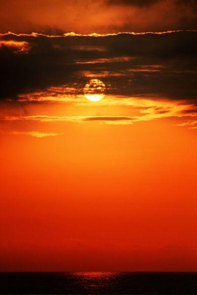 Sunset Ecuador Clouds And Sky Beach