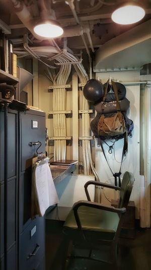 Navy Officers Quarters Desk Vintage File Cabinet 1940's Wartime  Ship