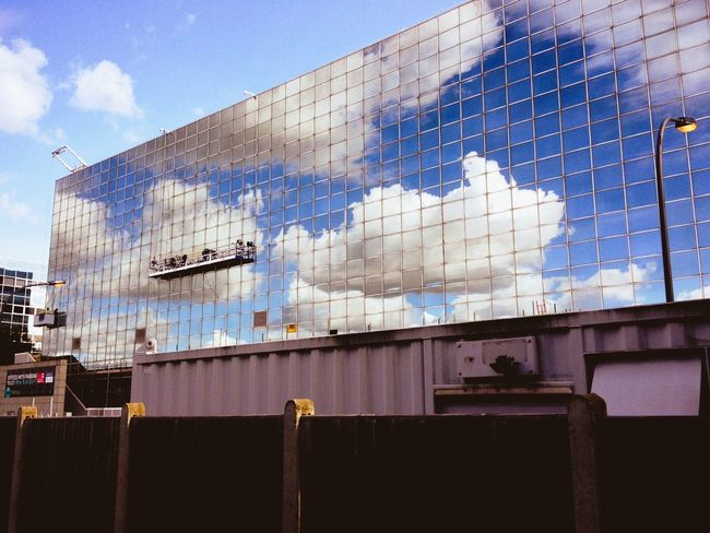 Architecture Built Structure Building Exterior Reflection Low Angle View Sky Modern Cloud City Office Building Cloud - Sky Day Outdoors Blue Development Office Block Façade Building Story No People City Life