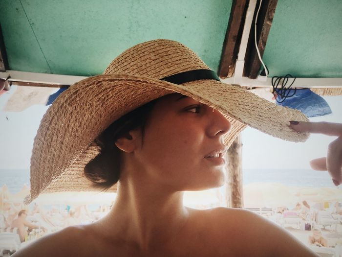 Beach Life Beach Photography Beachphotography Day Hat Headshot Leisure Activity Lifestyles Person Smile Tina Rips Tinarips Woman Hat Woman In Hat Woman In Hat Shadow Wooman Wooman Portrait Young Adult