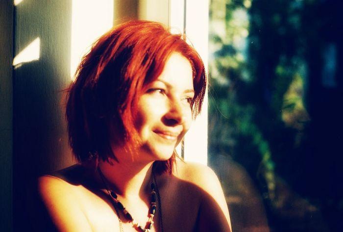 Potrait Red Window Colorful Enjoy Life Light And Shadow Woman EyeEm Beauty Sunshine