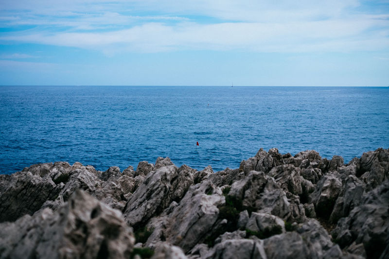 South of France 35mm Beach Beauty In Nature Blue Day EyeEm Best Shots Horizon Over Water Light Nature No People Outdoors Rock - Object Scenics Sea Sea And Sky Sky Takeover The Week Of Eyeem Tranquil Scene Tranquility Water
