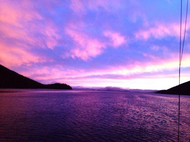 Purple Sunset No Filters Here!! Scenics Beauty In Nature Water Purple Sunset Sky Cloud - Sky Bay Area Sea