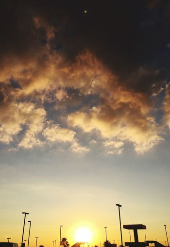 Airport Life Nanoisincontrol #infgraphix Nanoisincontrol Nano Silhouette Sunset Sky Low Angle View Cloud - Sky Scenics No People Nature Beauty In Nature Outdoors Technology Day