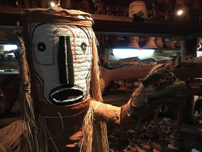 Scarryface Scarry Mask Venezuela Piaroa Aboriginal Aboriginal Art Amazonas Amazon Arts And Crafts Artsandcrafts Indoors  Day Real People Illuminated Workshop Working