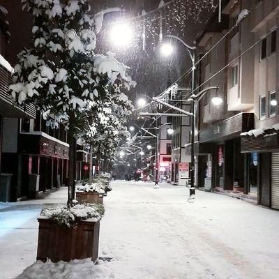 Bursa Kar Bursakar Cam Sculpture Snow Pine Snowtrees Cumhuriyetcad Gökdere ZaferMeydanı Tramvay Night gece gezisine kaldigimiz yerden devam 😊