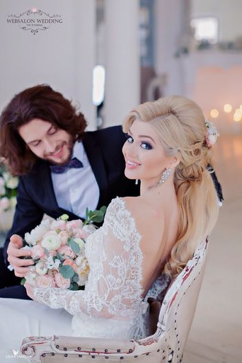 Wedding Dress Novia2015 Happy Wedding Wedding2015 Wedding Photography Blonde Girl Blondie Hairdresser Pretty♡ Redlips