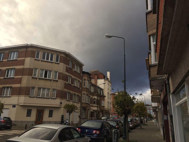 Street Light City Sky IPhoneography Belgium. Belgique. Belgie. Belgien. Etc. Orage Tempête