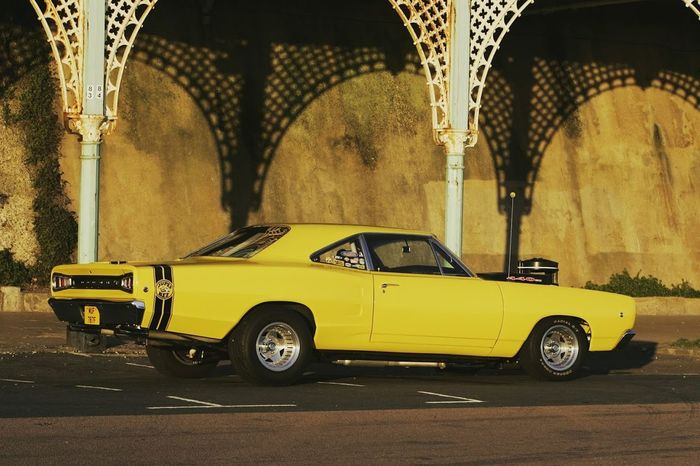 Automotive Photography Day Mopar Gang Muscle Car No People Outdoors Superbee V8 Engine Yellow Yellow Taxi