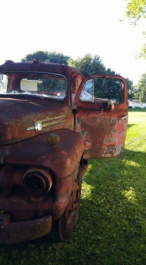 Nothing like a man and his truck EyeEmNewHere Flathead Truck RatRod Project Antique Ford 1952 F6 Flathead V8 Scrap Metal Weathered Deterioration Destruction Transportation Bad Condition No People Damaged Field Abandoned Rusty Run-down Day Obsolete Sky Grass Rotting Outdoors Clear Sky
