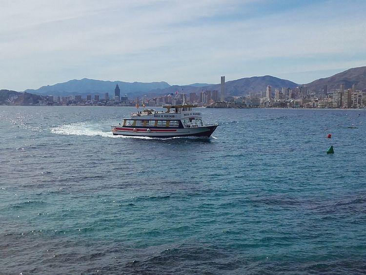 Mediterranean Sea Boat Benidorm Spain Water Nature Sea Outdoors Sailing NewEyeEmPhotographer EyeEmNewHere Neighborhood Map The Great Outdoors - 2017 EyeEm Awards Live For The Story