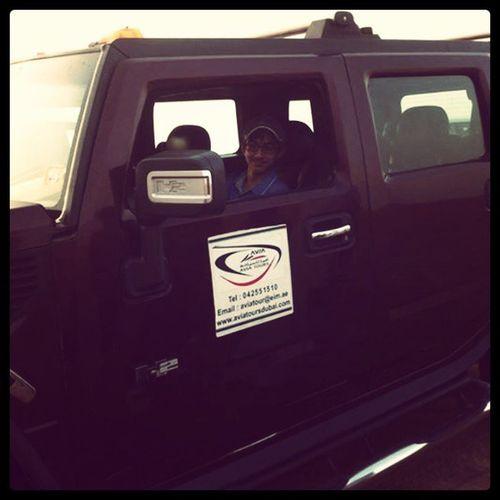Sitting in Hummer H2 at Desert Safari