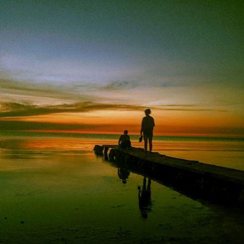 The Great Outdoors - 2015 EyeEm Awards Закат Sunset Baltic Sea