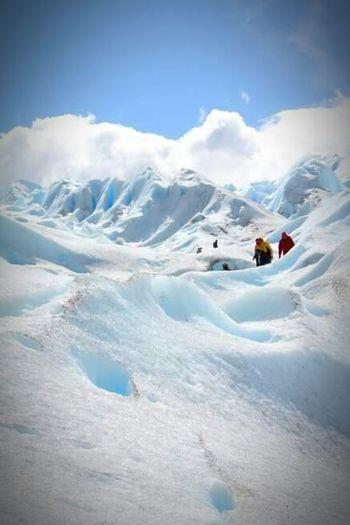 Camino al cielo. Glaciernationalpark Trekking Glacierskywalk GlacierWhite