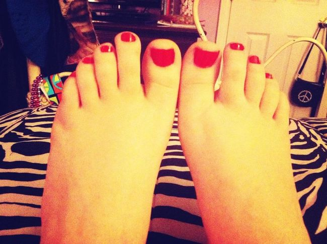 Toes done for this friday(: