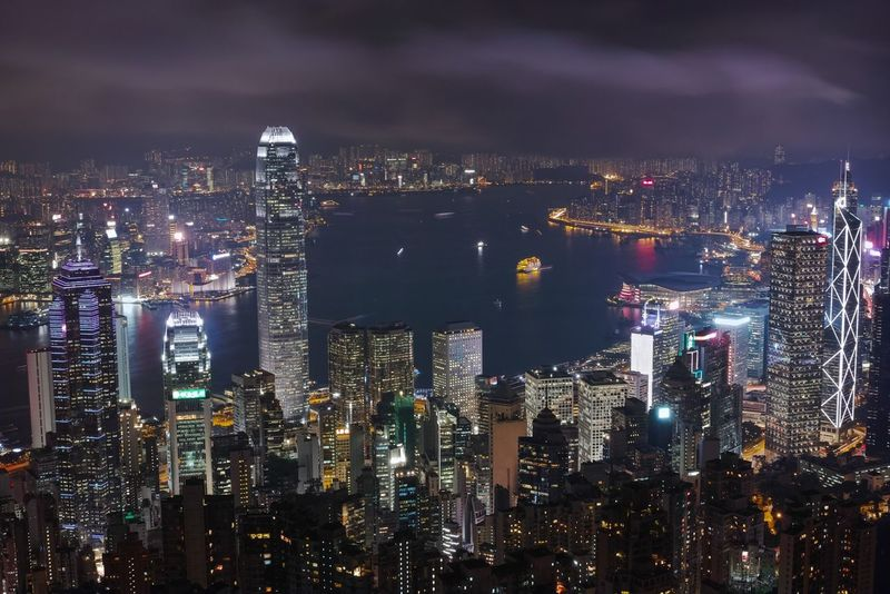 Night view in HK is always the best. HongKong Illuminated Cityscape Night Skyscraper Urban Skyline Mountain Landscape Sigma Harbour Thepeak Landscape_photography