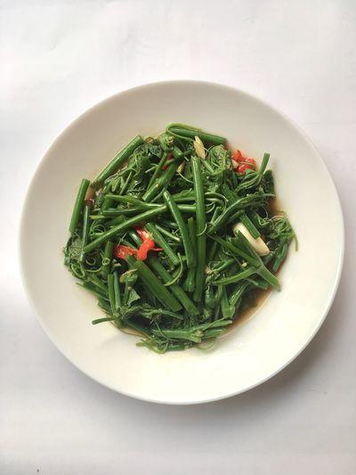 Chayote Stirfry Stir Fried Vegetarian Food Vegan Aerial View Chinese Stir Frys Chili  Garlic