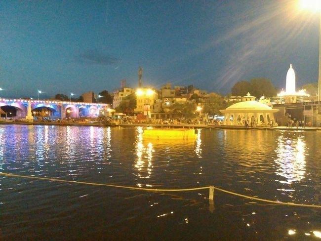 Praying Peace And Love KUMBHMELANASHIK River View Godavari_river Kubhamela Creative Light And Shadow