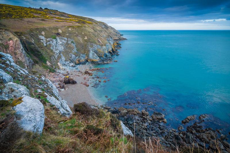 The steep cliffs of Howth in Ireland Sea Tranquility Horizon Sky Nature Beach Rocky Coastline Outdoors Landscape Seascape Seaside Howth Ireland Dublin Cliffs Coast Coastline