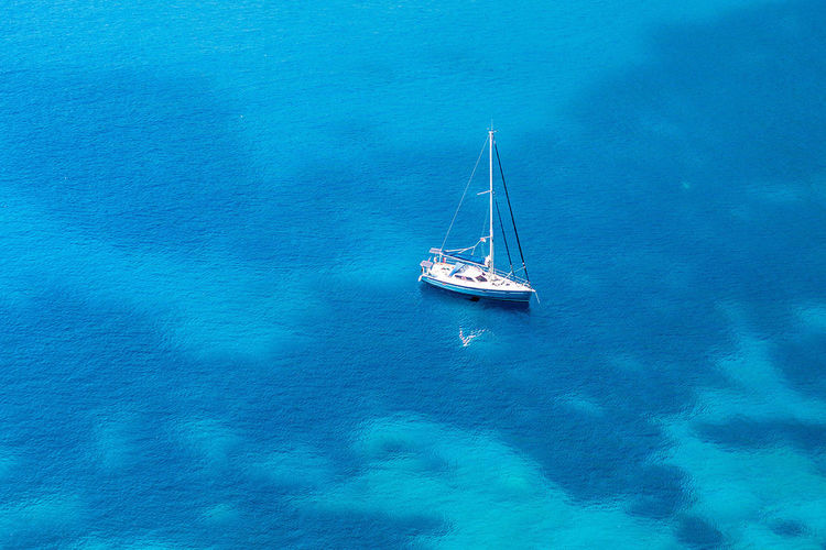 Clear water and nice snorkeling spots around the italian amalfi coast. Blue Diving, Snorkeling Italy, Amalfi Coast Nature No People Outdoors Sailboat Sailing Sailing Ship Sea Space For Text Water Yacht Yachting