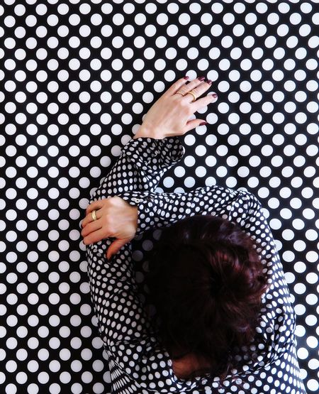 Equality One Woman Only Standing Especially Better Look Twice Hands Same  Same But Different Human Arm Portrait Of A Woman Real People Directly Above Lifestyles Women Indoors  Leisure Activity Childhood Pattern Pattern, Texture, Shape And Form Day Human Hand People Adult Dots Everywhere Dots The Portraitist - 2017 EyeEm Awards EyeEm Ready   AI Now Visual Creativity